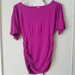 Versatile fuchsia maternity blouse